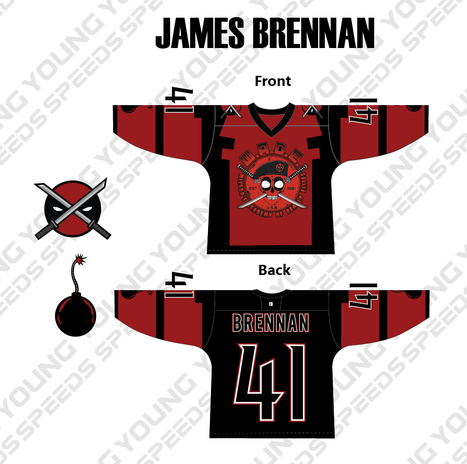 Custom Hockey Goalie Jersey-James Brennan - YoungSpeeds