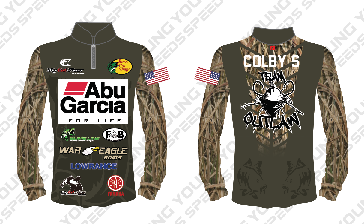 Custom Fishing Jersey-Colby Shingler - YoungSpeeds