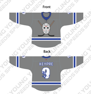 Jason Voorhees Themed Custom Sublimated Hockey Jersey - Cable Joe - YoungSpeeds