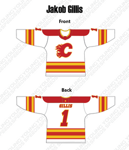 Flames Custom Hockey Jersey - YoungSpeeds