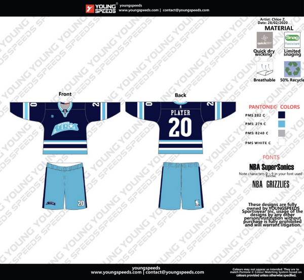 Aeros Box Lacrosse Jersey Order and Round 2 - YoungSpeeds