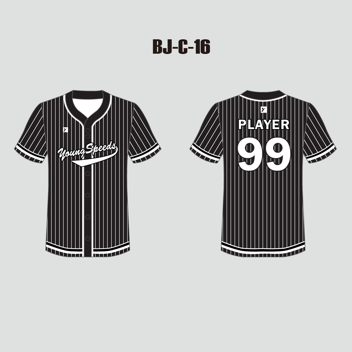 White Stripe Black Custom Full Button Baseball Jerseys - YoungSpeeds