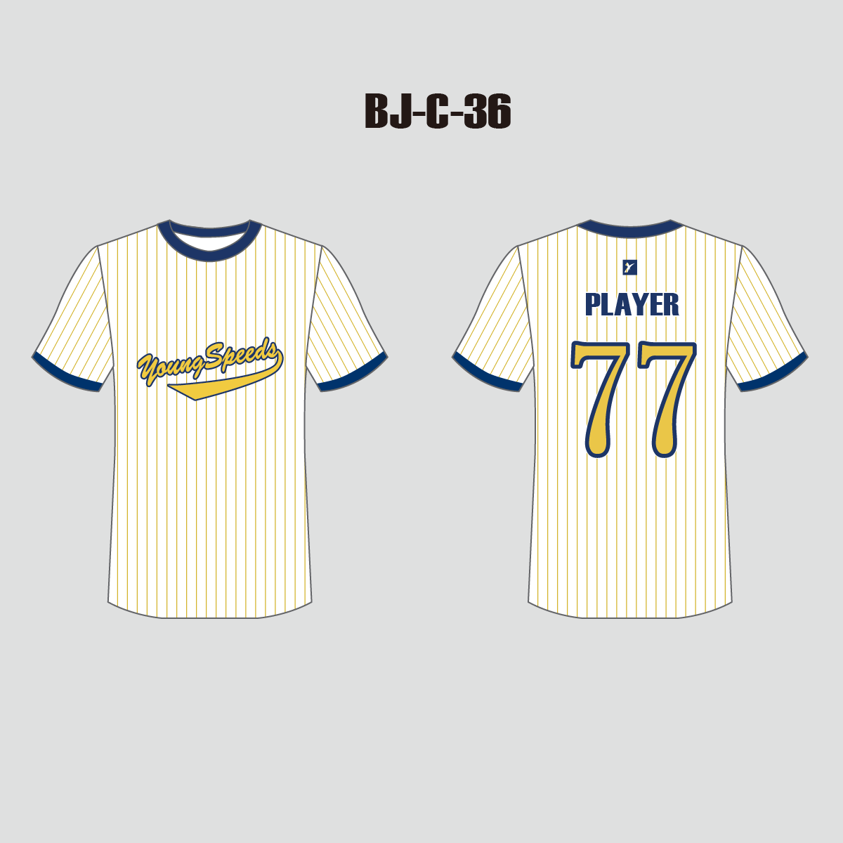 Pinstripe Custom Baseball Shirts for Men and Women - YoungSpeeds