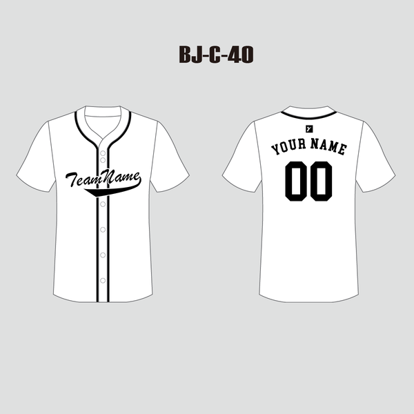 Unisex Full Button Plain White Custom Baseball Jerseys - YoungSpeeds