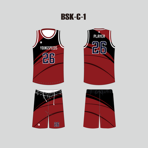 Sublimated Custom Mens Basketball Jerseys and Shorts