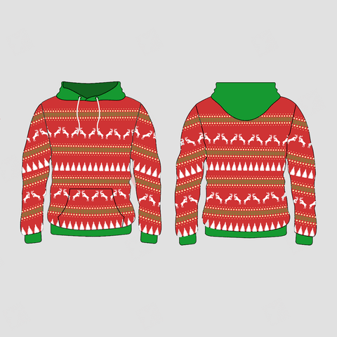 Xmas Trees and Deers Pattern Christmas Hoodies Pullover Sweatshirts - YoungSpeeds