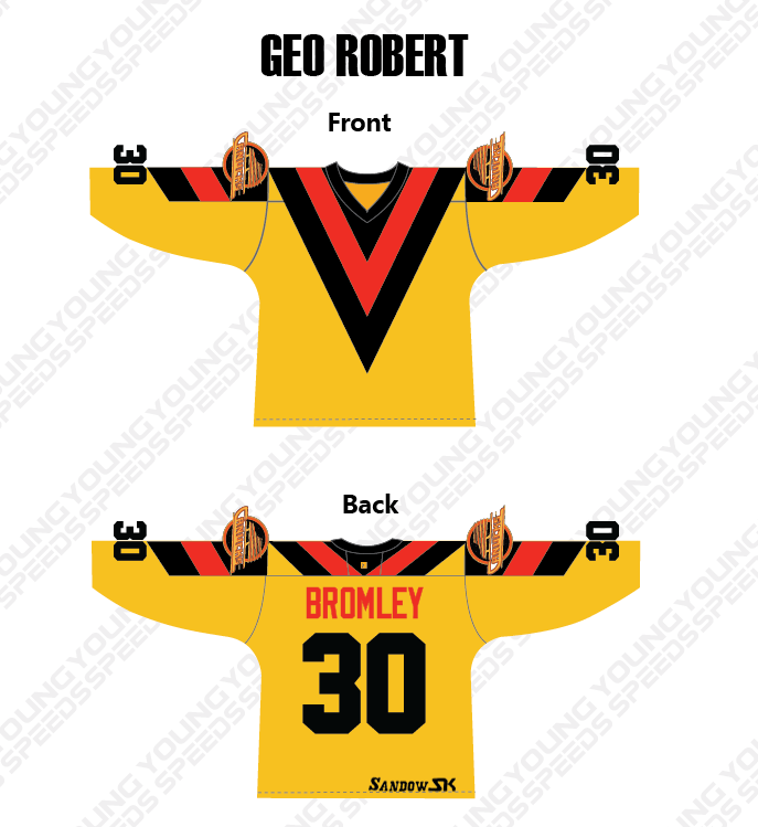 Sandow SK Vancouver Canucks V Style Sublimated Hockey Jersey - Geo Robert - YoungSpeeds
