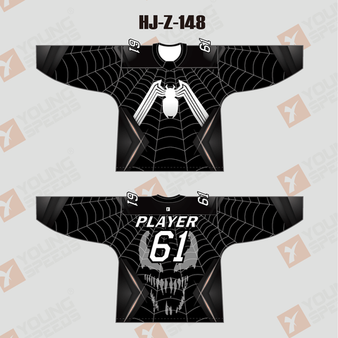 Spider Sublimated Custom Hockey Jerseys - YoungSpeeds