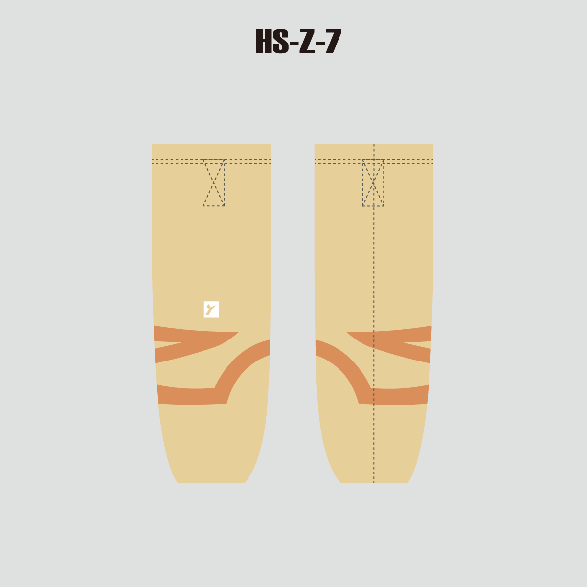 Light Yellow Custom Polyester Dry Fit Hockey Socks - YoungSpeeds