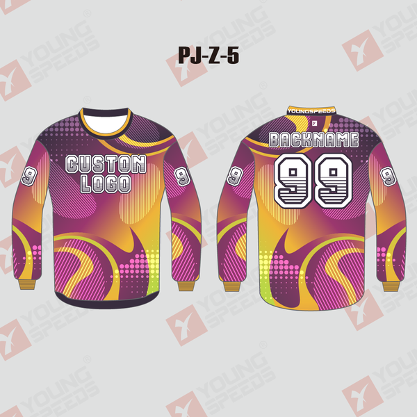 Pink Yellow Sublimated Custom Paintball Jerseys - YoungSpeeds