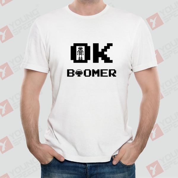 Original Robot OK BOOMER Unisex T-Shirts Made in USA - YoungSpeeds