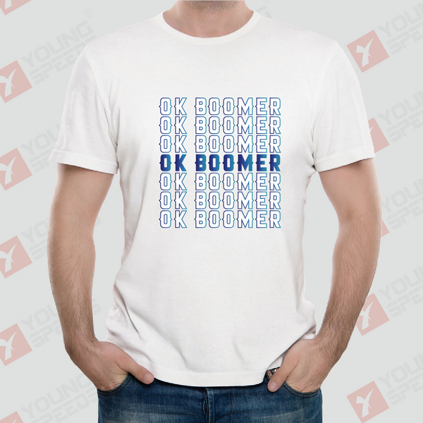 Original Repetitive OK BOOMER Unisex T-Shirts Made in USA - YoungSpeeds