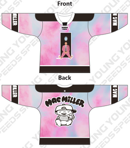 Mac Miller Swimming Album Cover Custom Hockey Jersey - YoungSpeeds