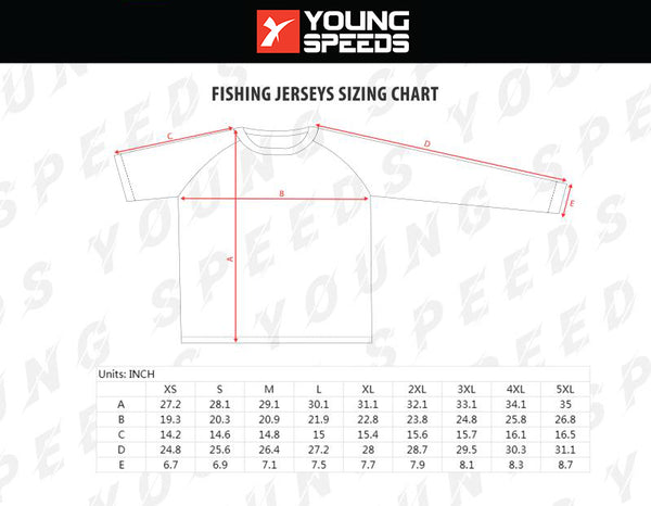 Custom Sublimated Light Weight Performance Fishing Shirt - Jim Sparone - YoungSpeeds