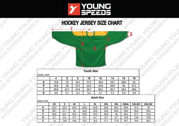 Blue and Red Sublimated Custom Hockey Team Jersey Goalie Cut - YoungSpeeds
