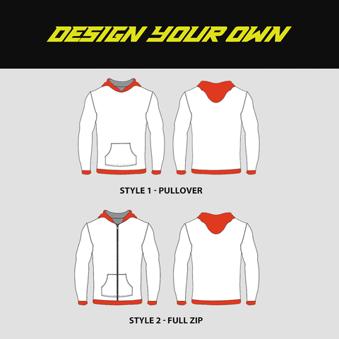 Sublimated Custom Hoodies - DESIGN YOUR OWN - YoungSpeeds