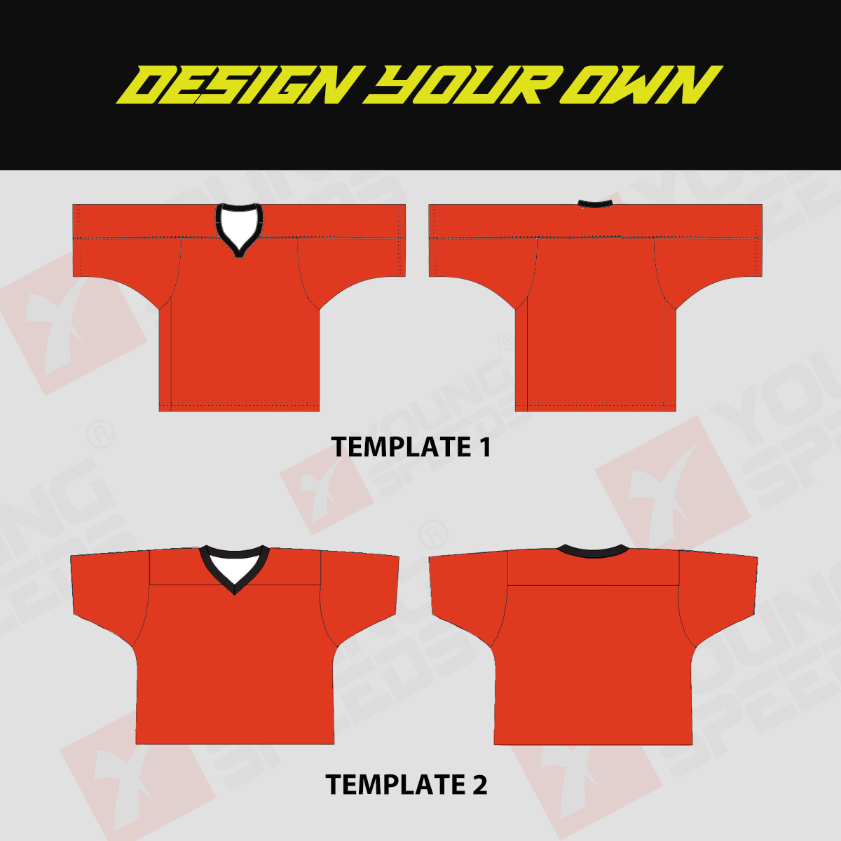 Sublimated Custom Lacrosse Jersey - DESIGN YOUR OWN - YoungSpeeds