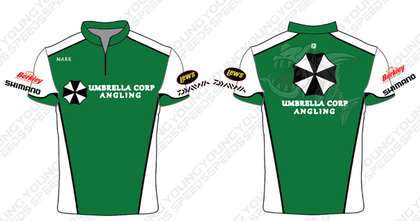 Umbrella Corp Angling Custom Sublimated Performance Fishing Shirts - YoungSpeeds