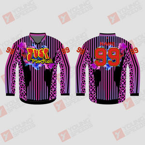 Fancy Fuchsia Custom Sublimated Paintball Jerseys - YoungSpeeds