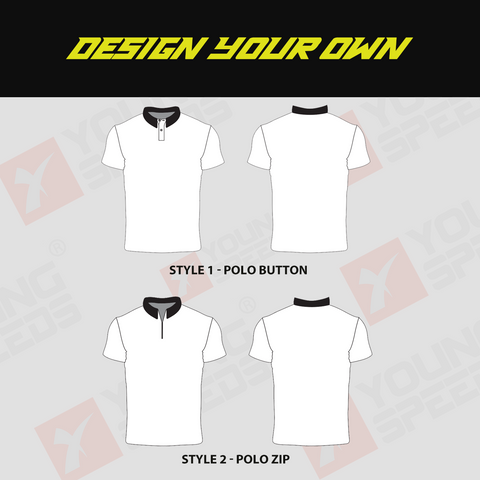 Sublimated Custom Short Sleeve Polo Shirts - DESIGN YOUR OWN - YoungSpeeds