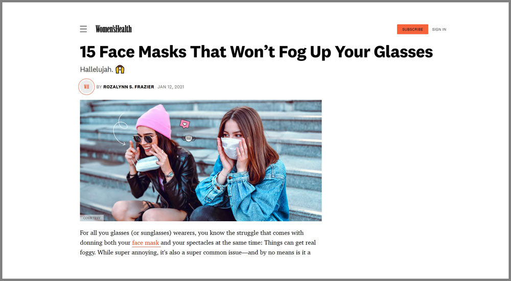 protective face mask don't fog up your glasses best deals