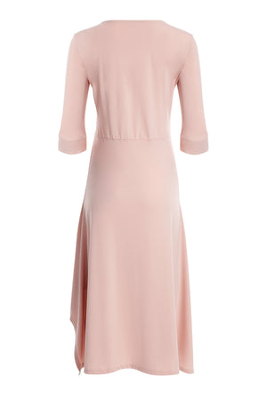 uv-protective-pink-Capri-Maxi-Dress-white-background-beck-view