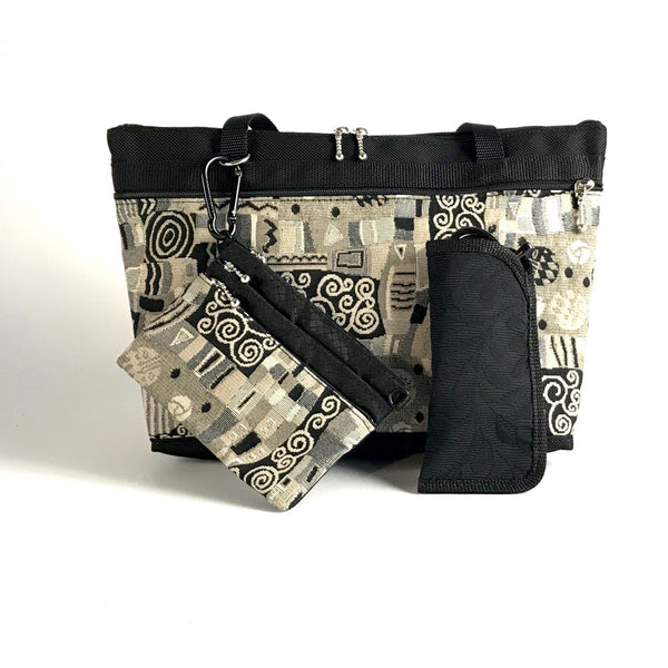 Gift Set - 221 Small French Satchel Organizer Tote with Bonus free Accessory