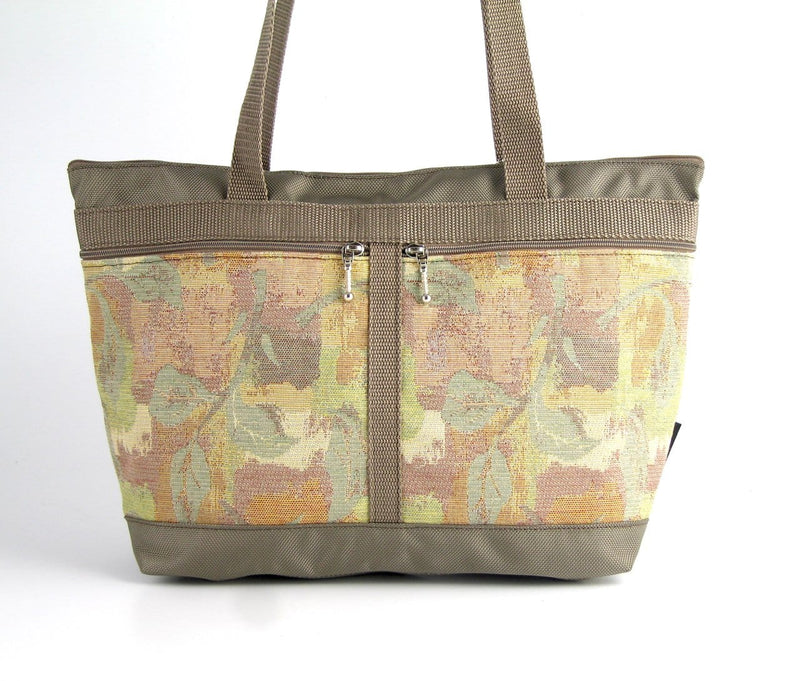 223 French Satchel Tote in Khaki with accent pockets