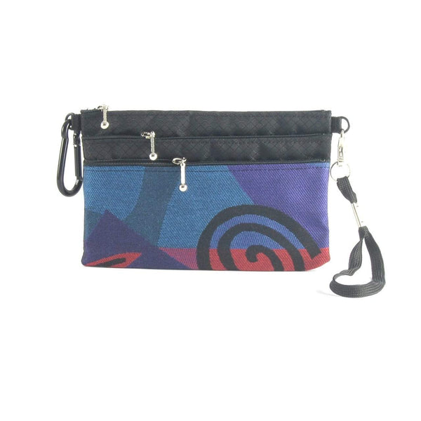 49R 3 zipper organizer with wristlet and carabiner clip