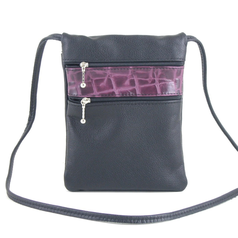 66J	leather cell phone cross-body bag