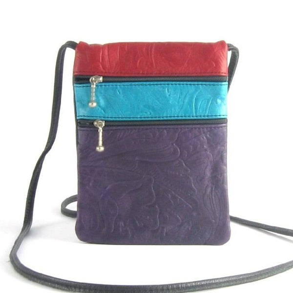 Leather Cell Phone Cross-body Bag #66J