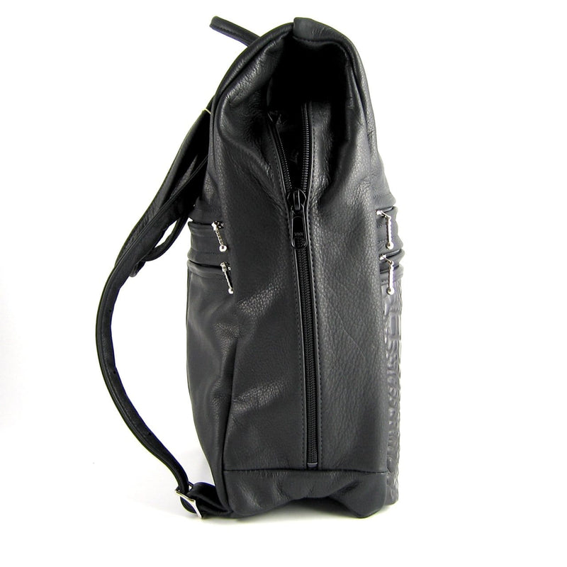 969 Legal Size side entry Backpack in solid colors
