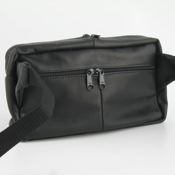 Large Rectangular Leather Fanny Pack #FC2
