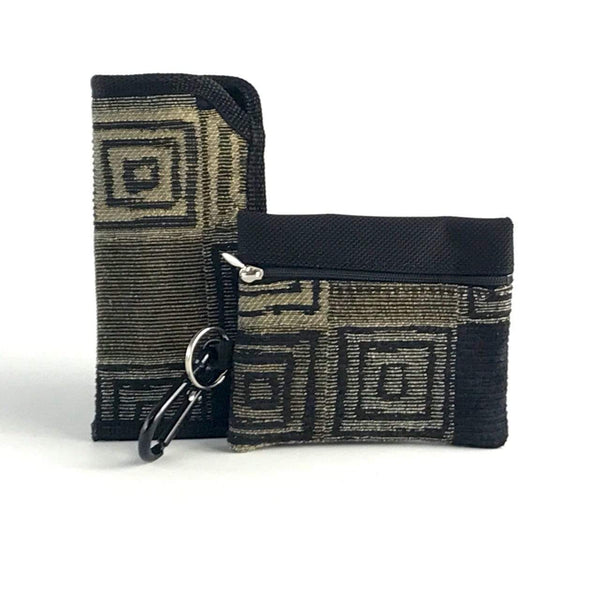 Gift Sets for Men - Glass Case and 2 Zip Card Wallet