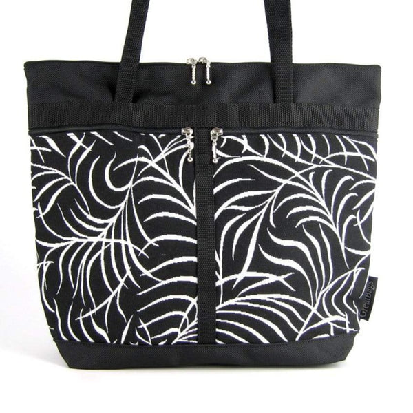 L: Large Tote in Black Nylon