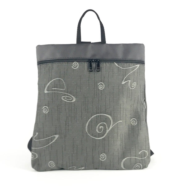 New! Morgan iPad Backpack in Gray Nylon with Fabric Accent #MRG