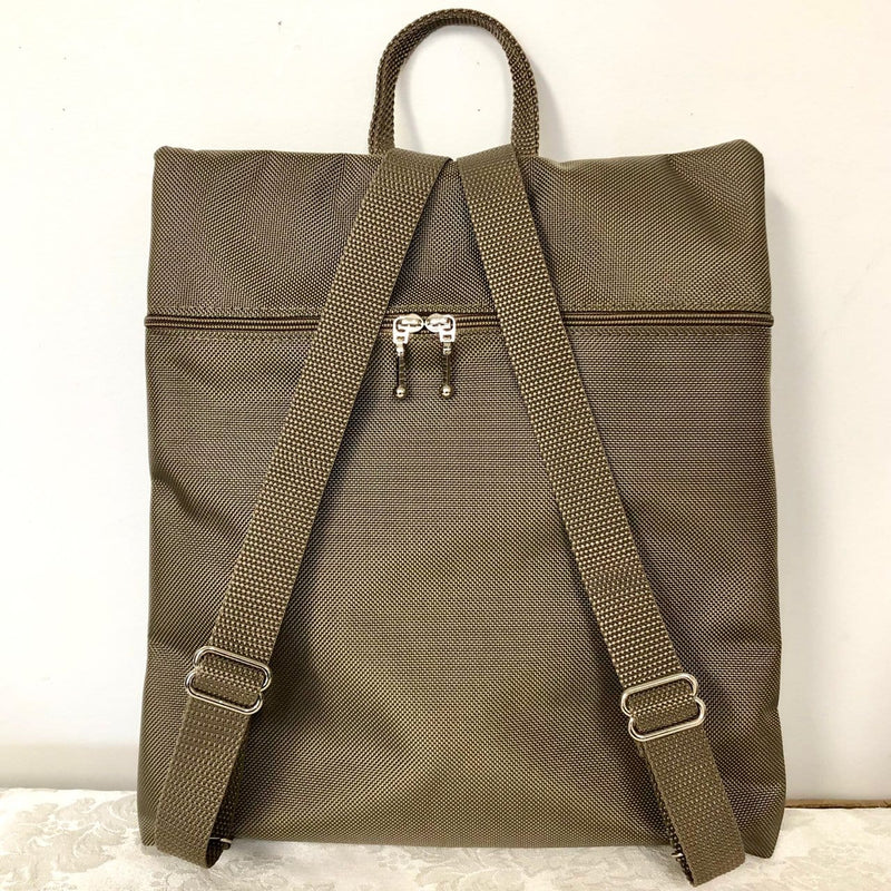 New! Morgan iPad Backpack in Khaki Nylon with Fabric Accent #MRG