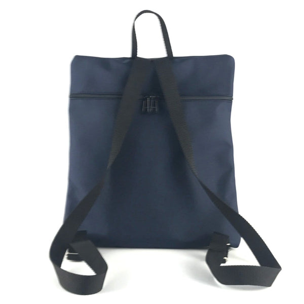 New! Morgan iPad Backpack in Navy Nylon with Fabric Accent #MRG