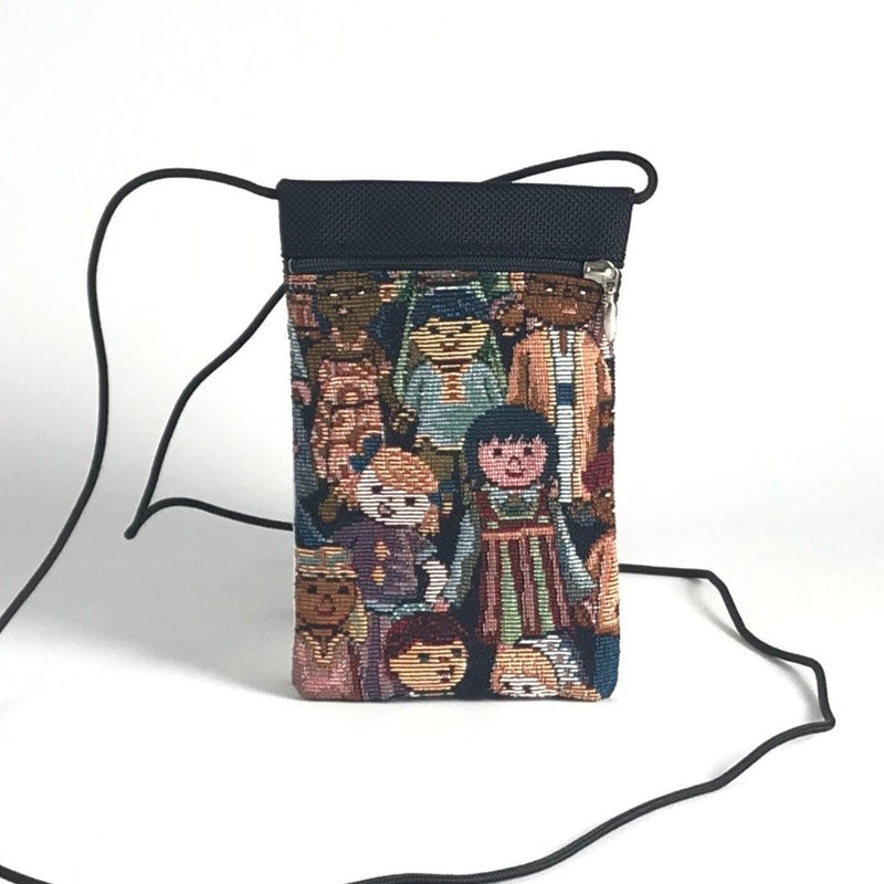 Vintage Fabrics CrossBody Cell Phone Bag T10S