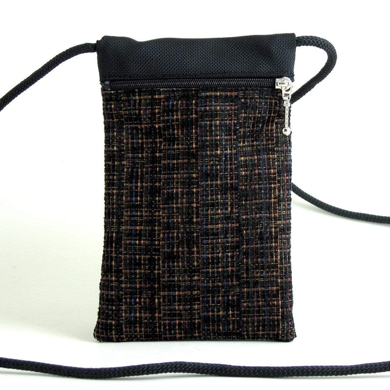 Vintage Chenille Fabrics CrossBody Large Cell Phone Bag T12S
