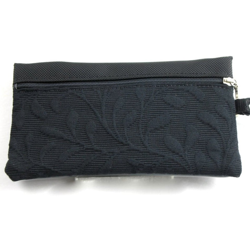 Two zipper purse organizer with Clear ID Window T46ID