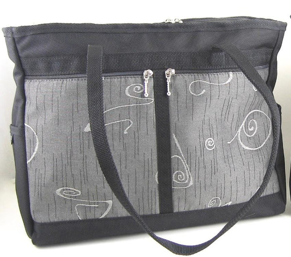 ZZ:	Boxy Laptop Tote w/ 2 open end pockets