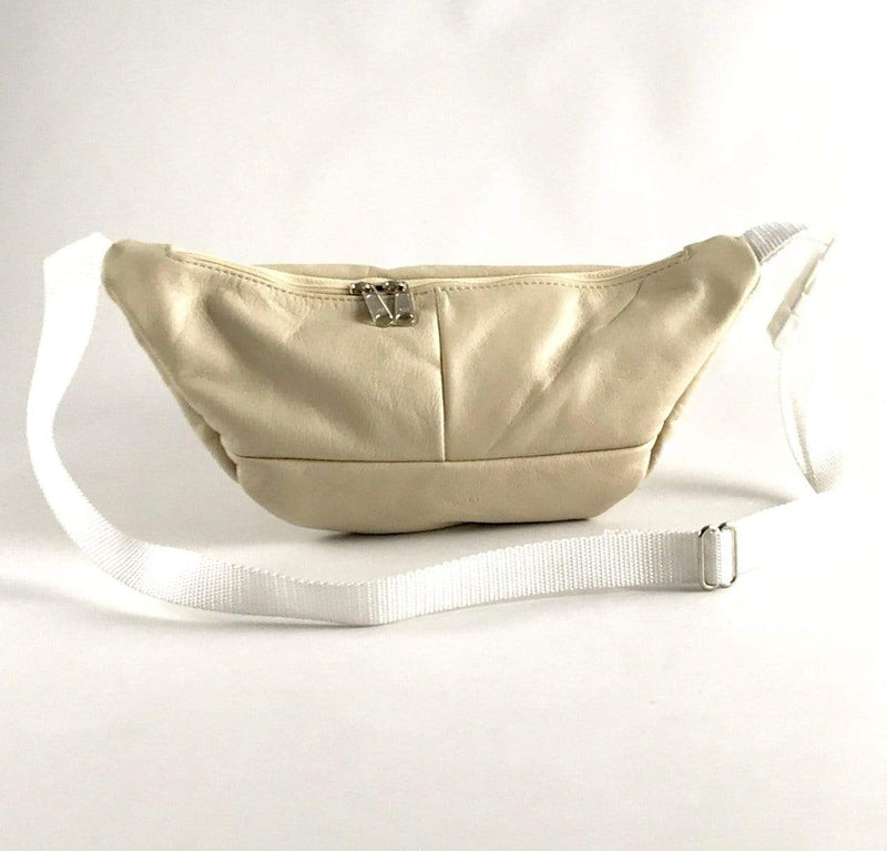 Small Leather Fanny Pack FP - solid colors