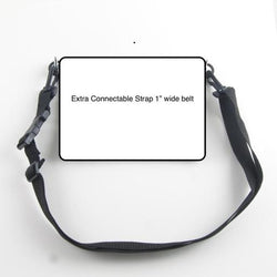 "Connectable Strap - 1"" Wide Webbing with quick release buckle, clips, slider"