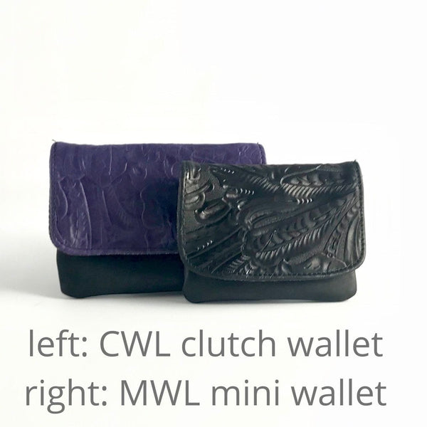 Medium Leather Clutch Flap Wallet CWL