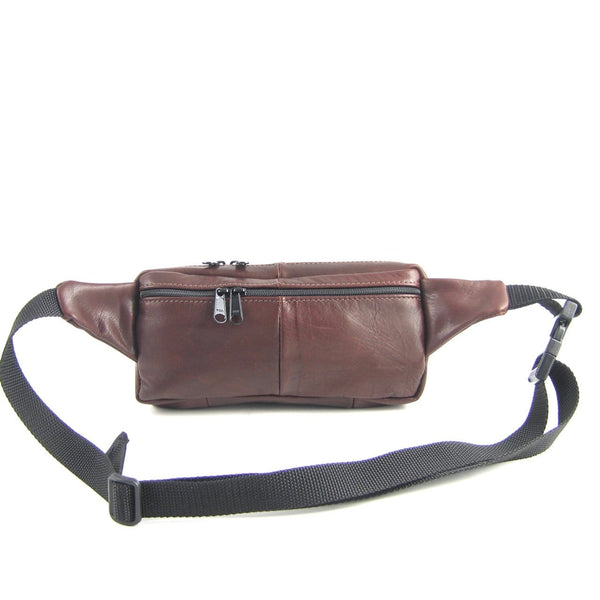 Rectangular Leather Fanny Pack