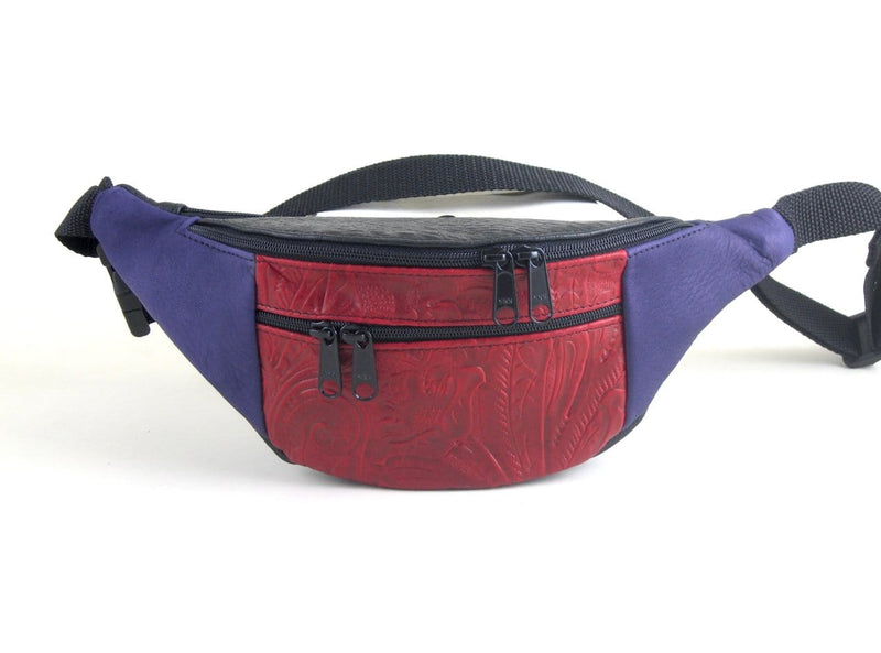 Small Leather Fanny Pack FPJ - with accent leathers