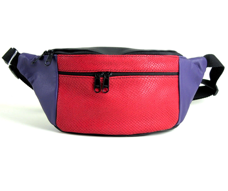 Extra Large Leather Fanny pack with Accent - XFPJ