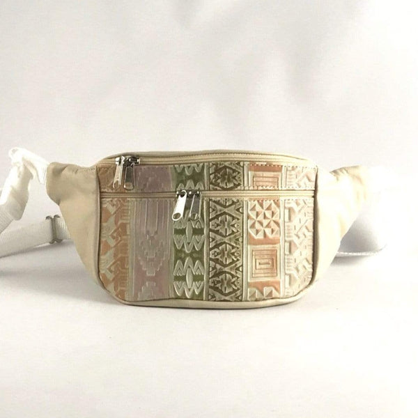 Light Colors for Spring - Large Leather Fanny pack with Accent - LFPJ