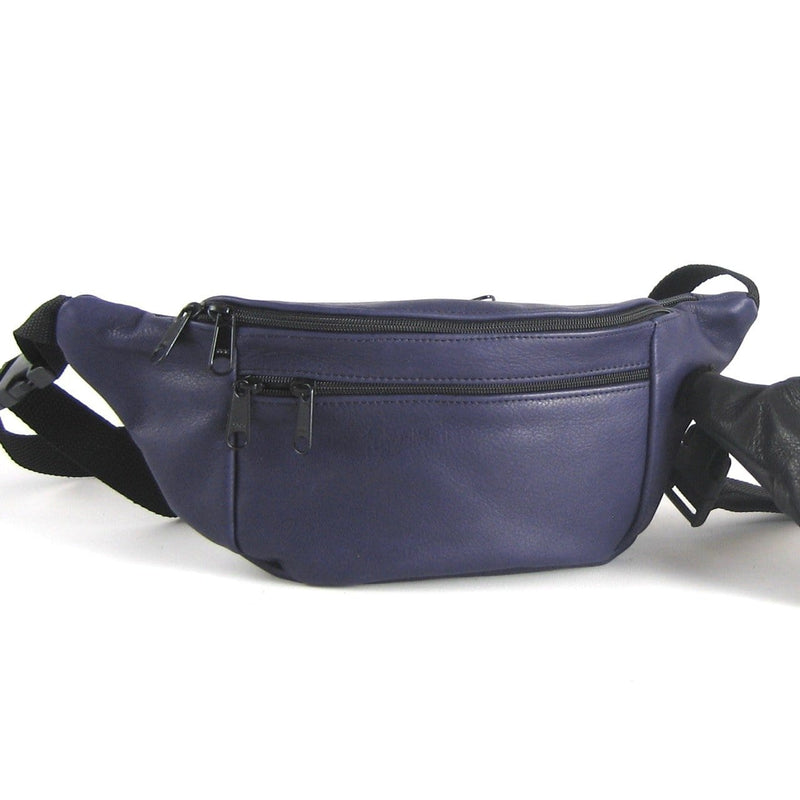 Large Leather Fanny pack LFP - solid colors